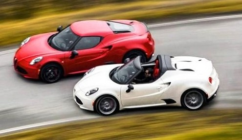 alfa romeo 4c vs spider