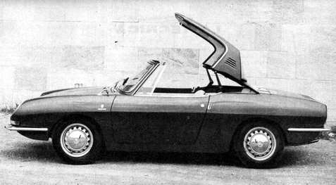 fiat 850 sport spider hard-top