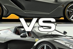 Ferrari LaFerrari Aperta VS Lamborghini Centenario Roadster
