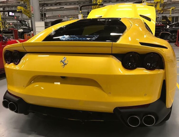 Ferrari 812 Superfast yellow