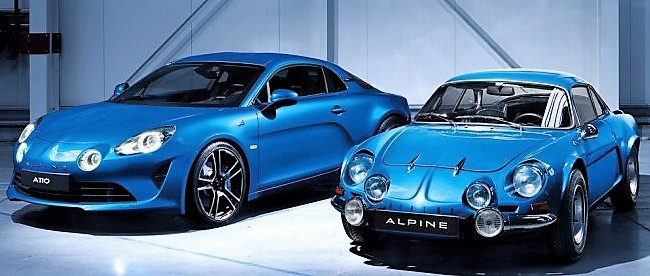 old and new Alpine A110